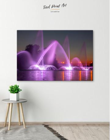 Illuminated Fountain Canvas Wall Art - image 6