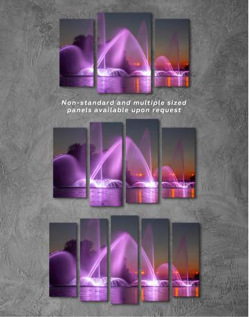Illuminated Fountain Canvas Wall Art - image 5