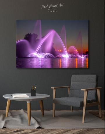 Illuminated Fountain Canvas Wall Art - image 4