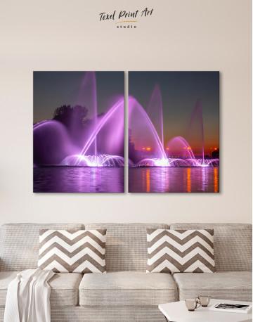 Illuminated Fountain Canvas Wall Art - image 9