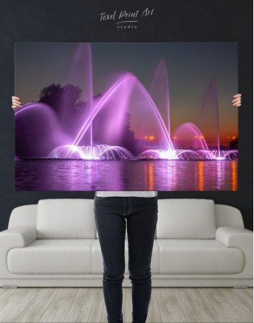 Illuminated Fountain Canvas Wall Art - image 10