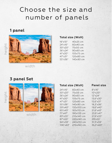 Monument Valley Utah Arizona Canvas Wall Art - image 1