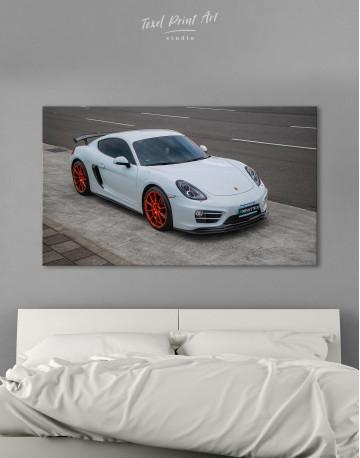 Gray Porsche Cayman Canvas Wall Art
