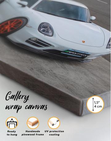 Gray Porsche Cayman Canvas Wall Art - image 8