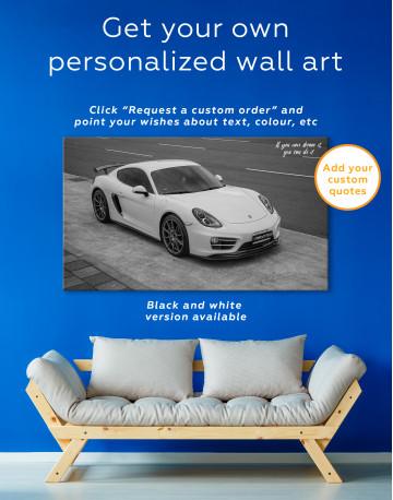 Gray Porsche Cayman Canvas Wall Art - image 7