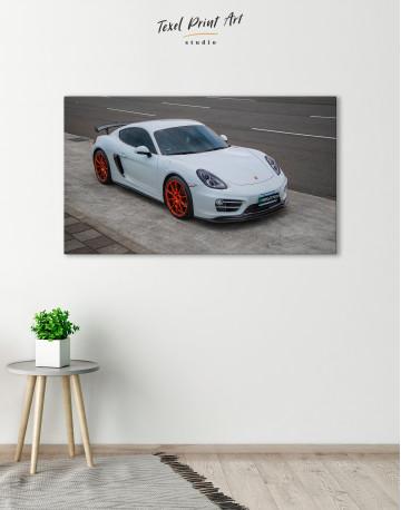 Gray Porsche Cayman Canvas Wall Art - image 6