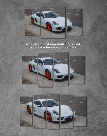 Gray Porsche Cayman Canvas Wall Art - image 5