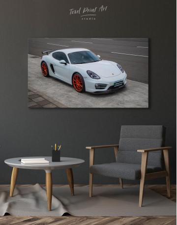 Gray Porsche Cayman Canvas Wall Art - image 4