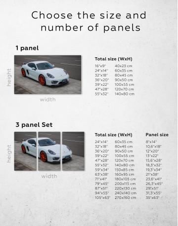 Gray Porsche Cayman Canvas Wall Art - image 1