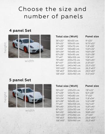 Gray Porsche Cayman Canvas Wall Art - image 2