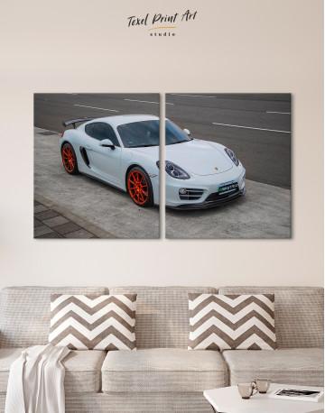 Gray Porsche Cayman Canvas Wall Art - image 10