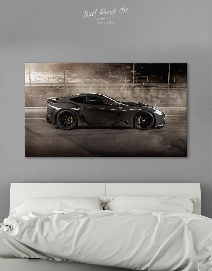 Black Ferrari F12 Berlinetta Canvas Wall Art