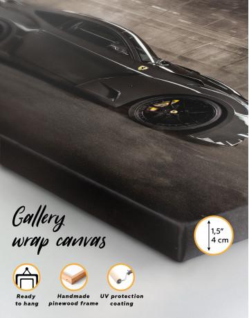 Black Ferrari F12 Berlinetta Canvas Wall Art - image 8