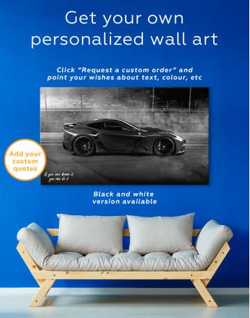 Black Ferrari F12 Berlinetta Canvas Wall Art - image 7