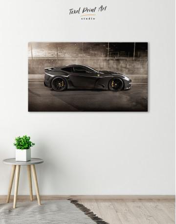 Black Ferrari F12 Berlinetta Canvas Wall Art - image 6