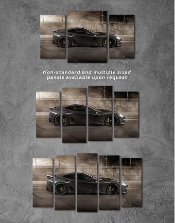 Black Ferrari F12 Berlinetta Canvas Wall Art - image 5