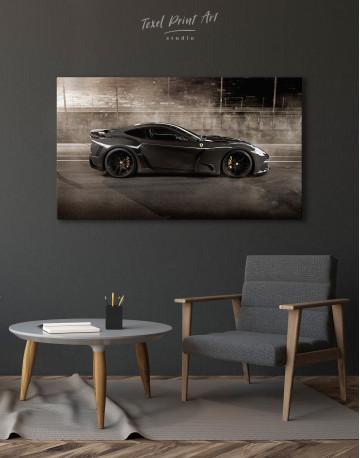 Black Ferrari F12 Berlinetta Canvas Wall Art - image 4