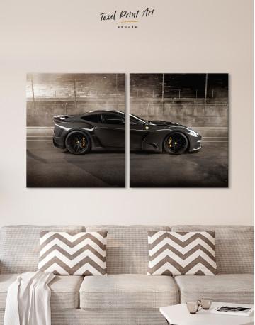 Black Ferrari F12 Berlinetta Canvas Wall Art - image 10