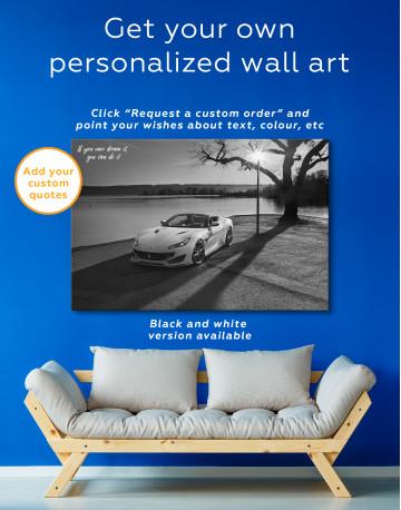 2019 Ferrari Portofino Canvas Wall Art - image 1