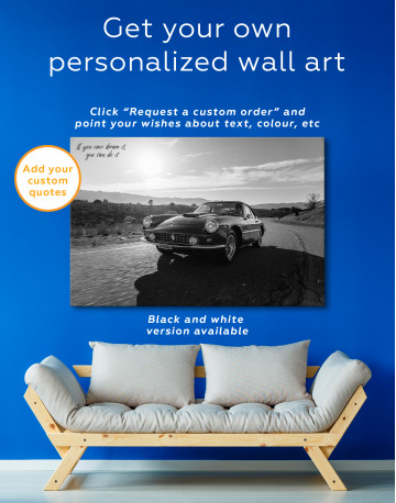 1961 Ferrari 400 Superamerica Canvas Wall Art - image 10