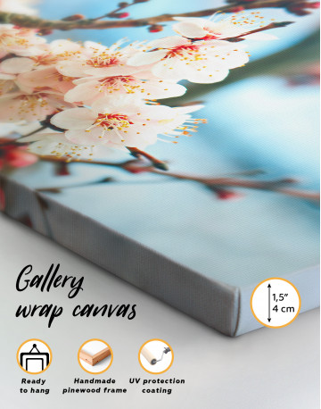 Apricot Blossom in Spring Canvas Wall Art - image 3