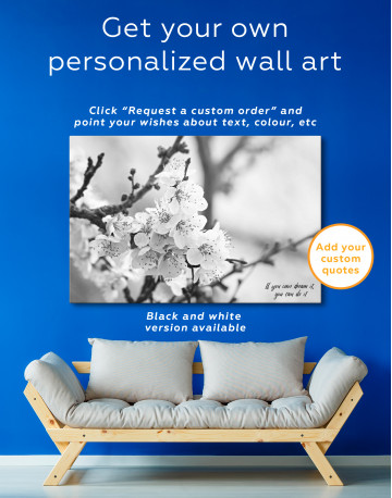 Apricot Blossom in Spring Canvas Wall Art - image 10