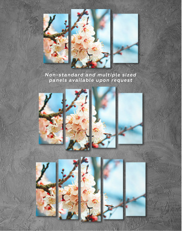 Apricot Blossom in Spring Canvas Wall Art - image 8