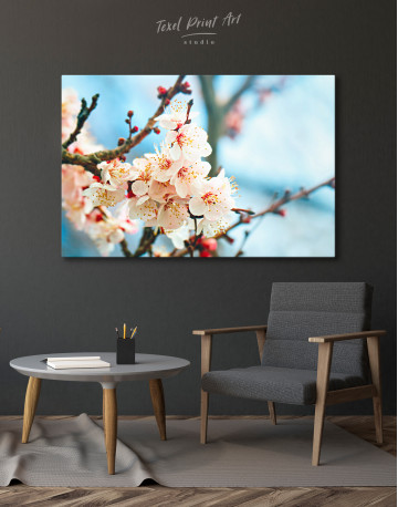 Apricot Blossom in Spring Canvas Wall Art - image 7