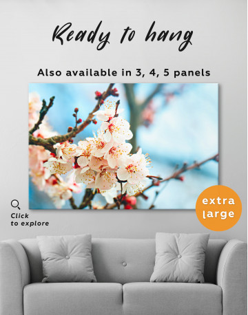 Apricot Blossom in Spring Canvas Wall Art - image 6