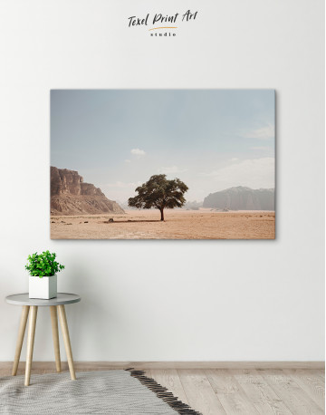 Lonely Tree in Desert Canvas Wall Art - image 2