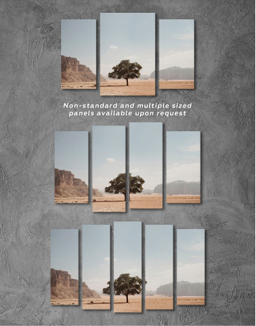 Lonely Tree in Desert Canvas Wall Art - image 3