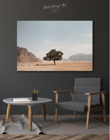 Lonely Tree in Desert Canvas Wall Art - image 4
