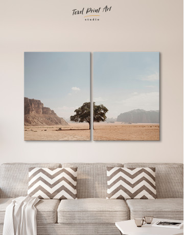 Lonely Tree in Desert Canvas Wall Art - image 7