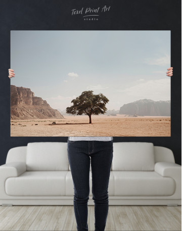 Lonely Tree in Desert Canvas Wall Art - image 9