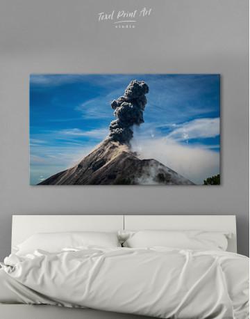 Fuego Volcano Erupting Canvas Wall Art