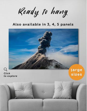 Fuego Volcano Erupting Canvas Wall Art - image 3