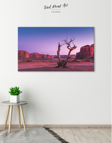 Monument Valley Tree Sunset Canvas Wall Art - image 6