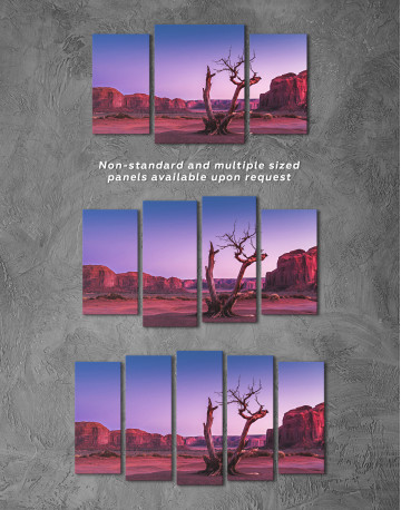 Monument Valley Tree Sunset Canvas Wall Art - image 5