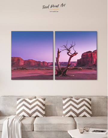 Monument Valley Tree Sunset Canvas Wall Art - image 10