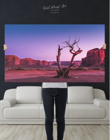 Monument Valley Tree Sunset Canvas Wall Art - image 9