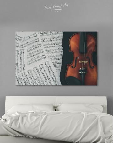 Violin and Music Notes Canvas Wall Art