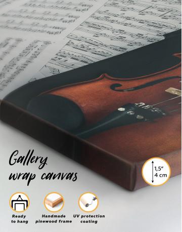 Violin and Music Notes Canvas Wall Art - image 3