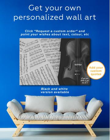 Violin and Music Notes Canvas Wall Art - image 4