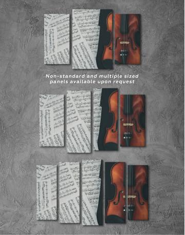 Violin and Music Notes Canvas Wall Art - image 6