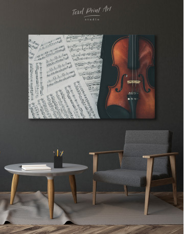 Violin and Music Notes Canvas Wall Art - image 7