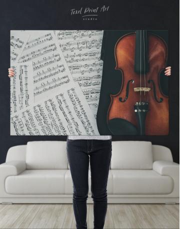 Violin and Music Notes Canvas Wall Art - image 2