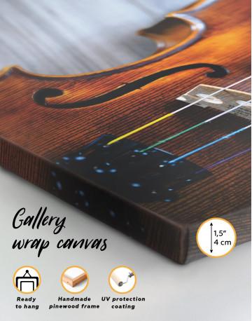Violin Close Up Photo Canvas Wall Art - image 2