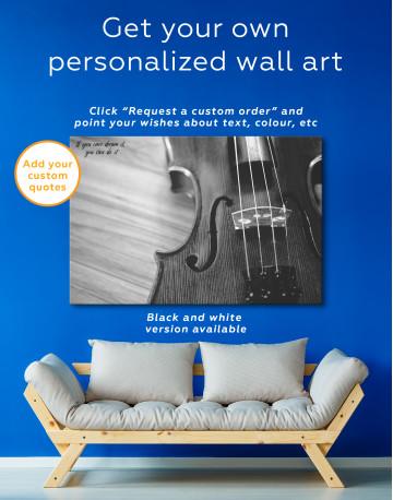 Violin Close Up Photo Canvas Wall Art - image 3