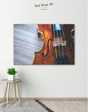 Violin Close Up Photo Canvas Wall Art - image 4