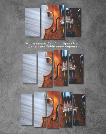 Violin Close Up Photo Canvas Wall Art - image 5
